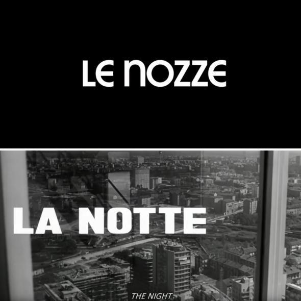 Screengrab from Netflix and screengrab from La Notte