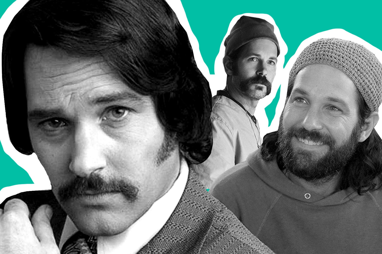 Paul Rudd in Anchorman, Mute and Our Idiot Brother.