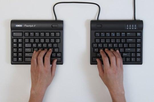 Kinesis ergonomic keyboard.