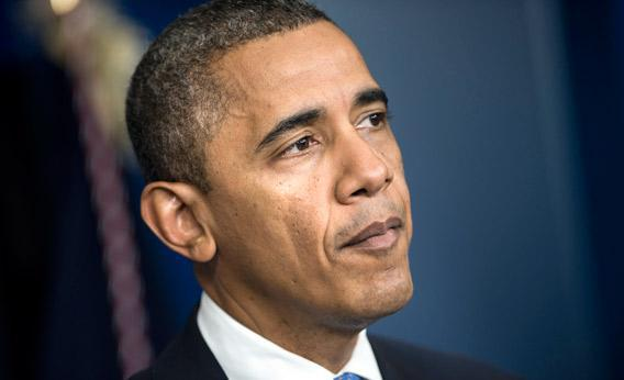 Pres. Obama speaks to the press in the briefing room of the White House October 29, 2012.