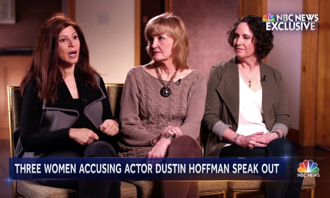 Cori Thomas, Kathryn Rossetter, and Anna Graham Hunter appear on NBC Nightly News to discuss Dustin Hoffman's behavior toward them.