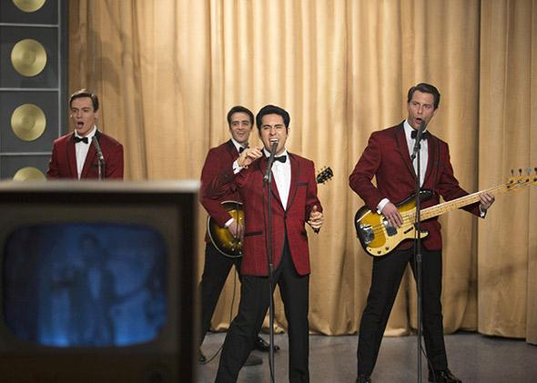 John Lloyd Young, Vincent Piazza, Erich Bergen and Michael Lomenda in Jersey Boys (2014).