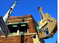 Giant guitar reaches for stardom on Sam Phillips Avenue