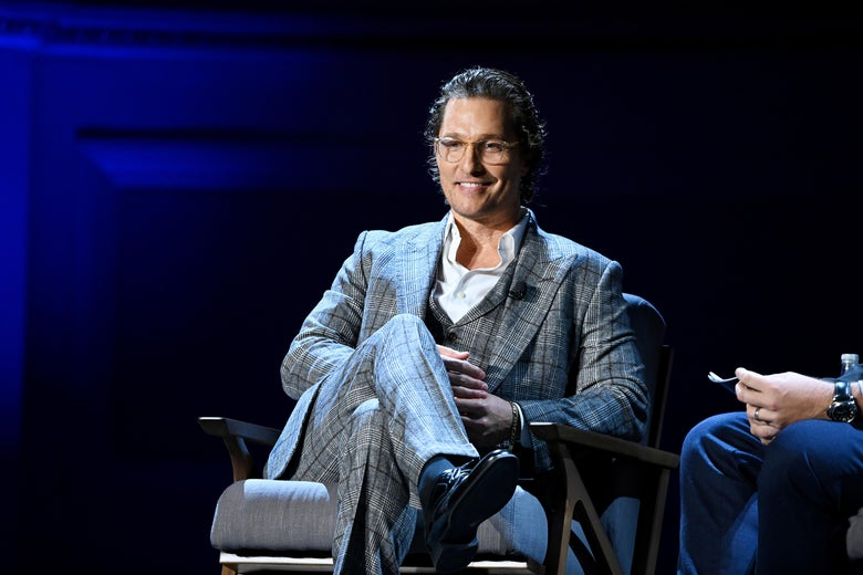 Matthew McConaughey speaks at Carnegie Hall on February 29, 2020 in New York City.