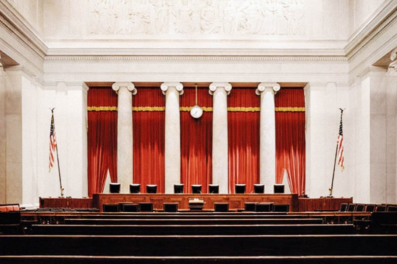Interior of the Supreme Court chamber