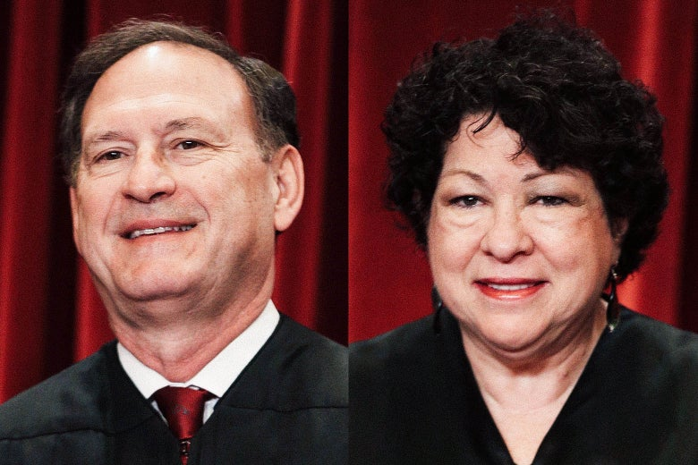 Supreme Court Associate Justices Samuel Alito and Sonia Sotomayor.