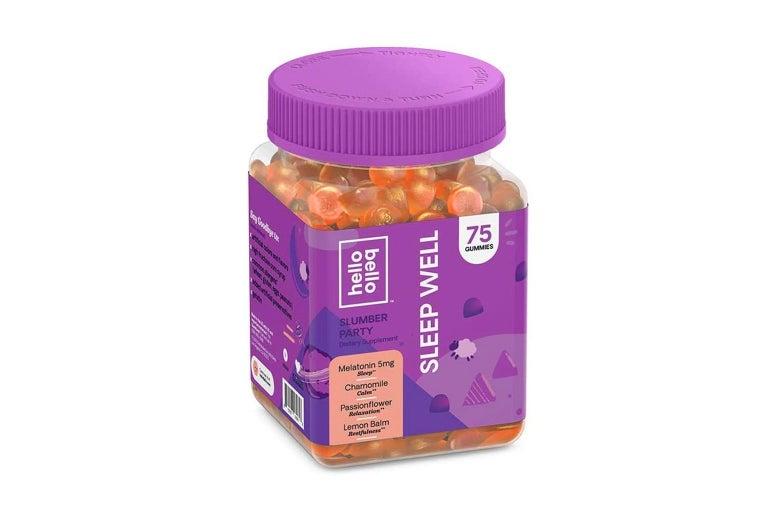 Jar of orange gummy vitamins