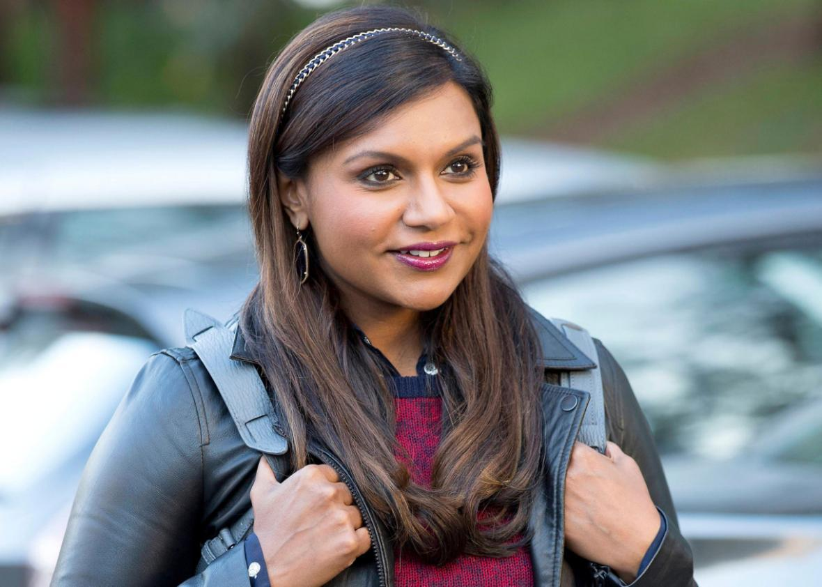 Mindy Kaling as Mindy Lahiri in The Mindy Project.