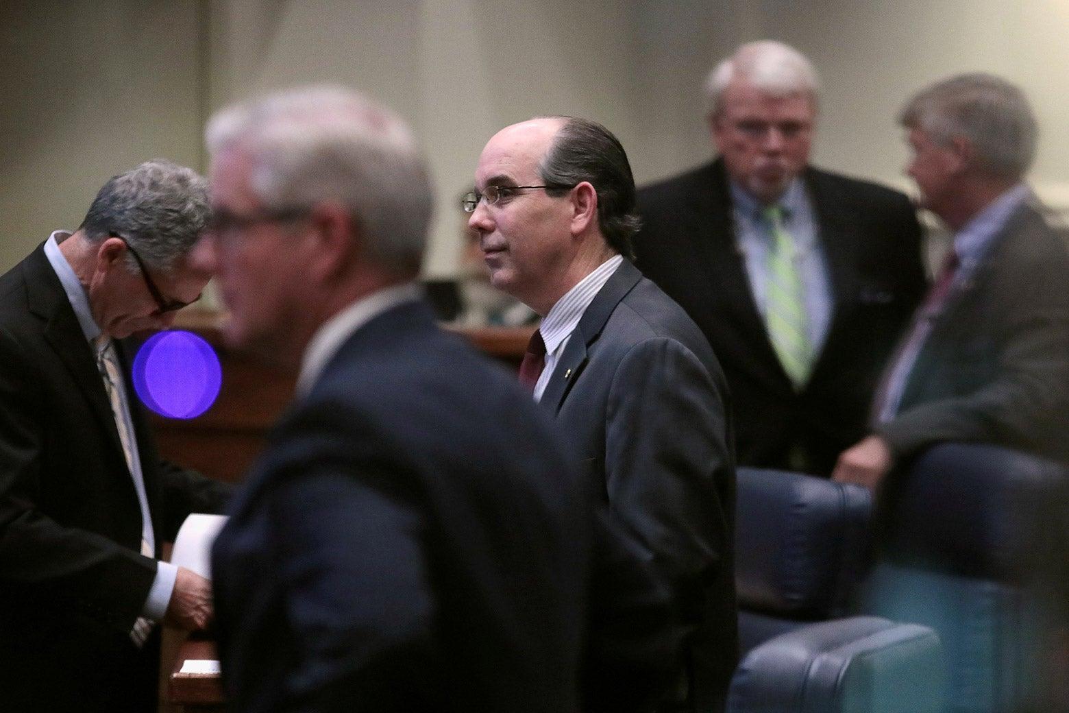 Chambliss with other Alabama state senators around him.