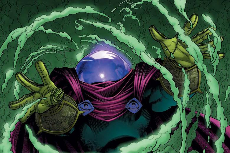 Comic villain Mysterio engulfed in smoke.