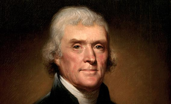 Portrait of Thomas Jefferson in 1800.