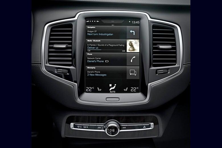 The Volvo Sensus system.