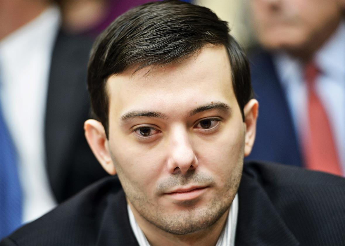 Martin Shkreli listens during a hearing of the House Oversight and Government Reform Committee on Capitol Hill Feb. 4 in Washington, D.C.