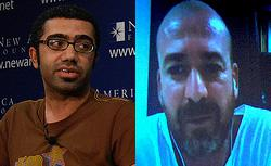 Saudi blogger Ahmed Al Omran and Tunisian blogger Sami Ben Gharbia.