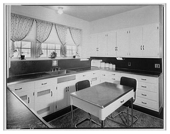 A kitchen design product of Gilbreth's efficiency studies.