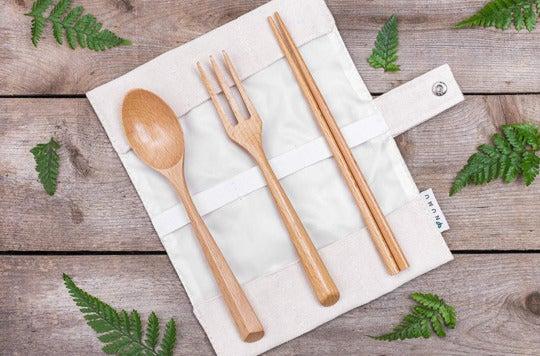 NUMU Wooden Cutlery Set.