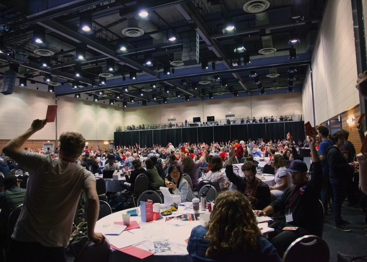 The DSA convention in Chicago showcases splinters among a