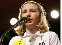 Katharine Close during the 2006 Scripps National Spelling Bee          Click image to expand.