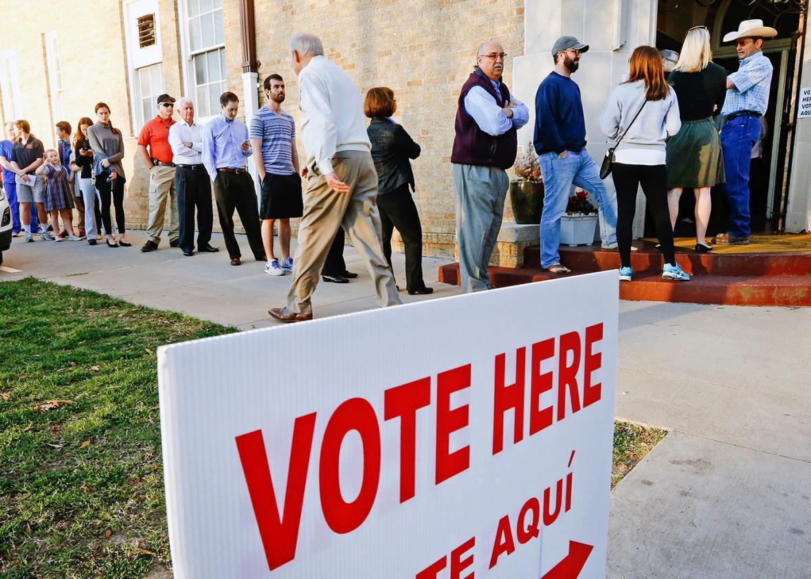 Texas voter line