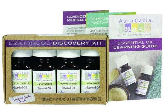 Aura Cacia essential oil collection.
