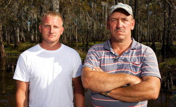Clint Landry and Troy Landry Swamp People.
