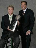 CBS Sports' Jim Nantz (right) and Phil Simms. Click image to expand.