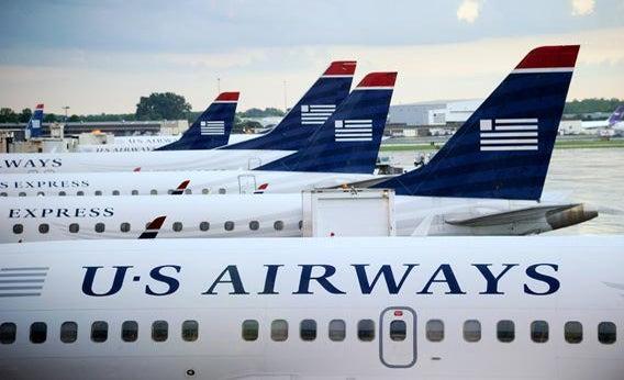 U.S. Airways planes sit on the tarmac at Charlotte/Douglas International Airport in September 2012 in Charlotte, North Carolina.
