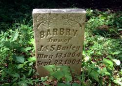 Barbry, born May 13, 1904, died Sept. 22, 1904.