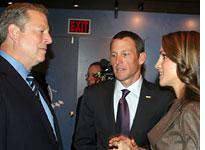Al Gore, Lance Armstrong, and Rania Al Abdullah. Click image to expand.