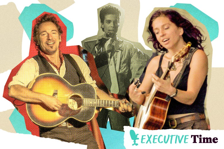 Bruce Springsteen, Prince, and Ani DiFranco.