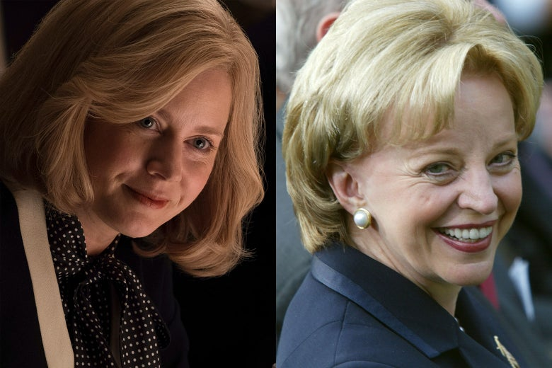 Side-by-side of Amy Adams and former second lady Lynne Cheney.