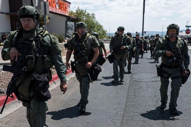 SWAT team.