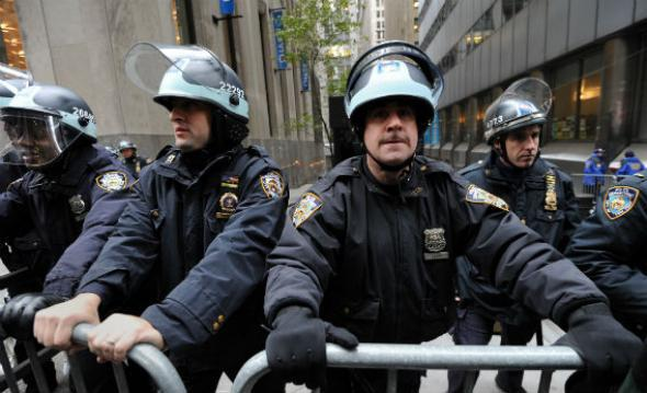 Occupy Wall Street riot police