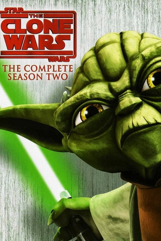 Cover art. A cartoonish version of Yoda holds a green lightsaber.