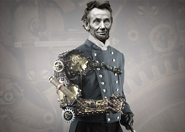 Abraham Lincoln Steampunk President.