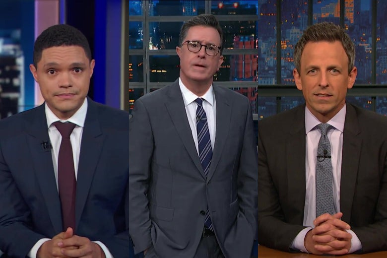"""It's """"The President Is Allegedly a Rapist"""" Week on Late Night TV"""