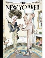 The cover of the July 21, 2008 issue of The New Yorker. Click image to expand.