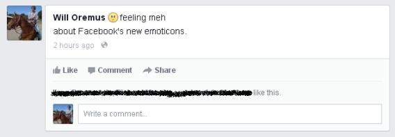 """Facebook emoji: """"Meh"""""""