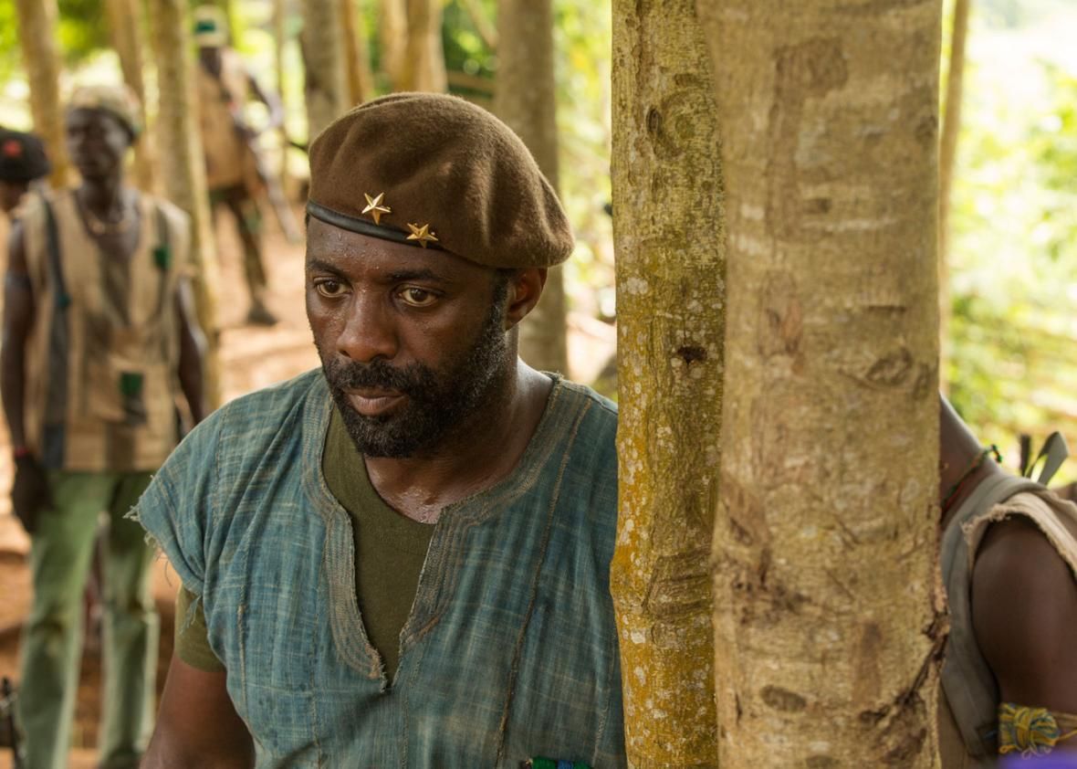 Idris Elba in Beasts of No Nation.