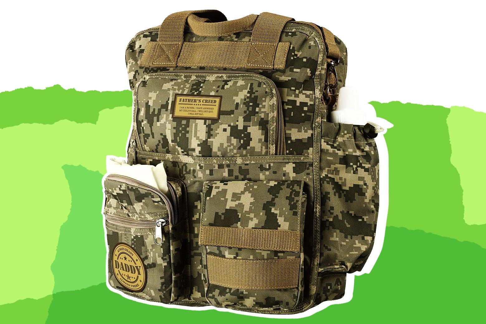 Lillian Rose Military Daddy Diaper Bag