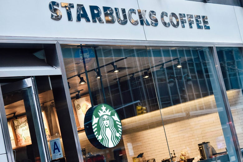 The sign for a Starbucks Coffee shop is seen in New York on Tuesday.