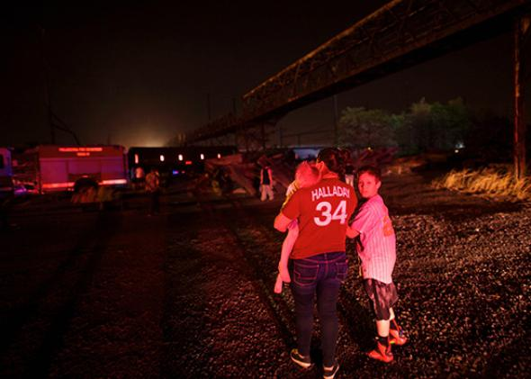 Amtrak crash bystanders