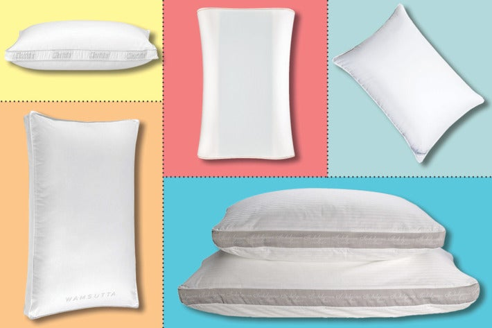 Collage of different pillows.