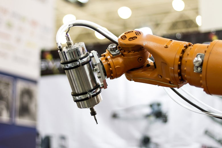 Stock image: an automated piece of machinery.