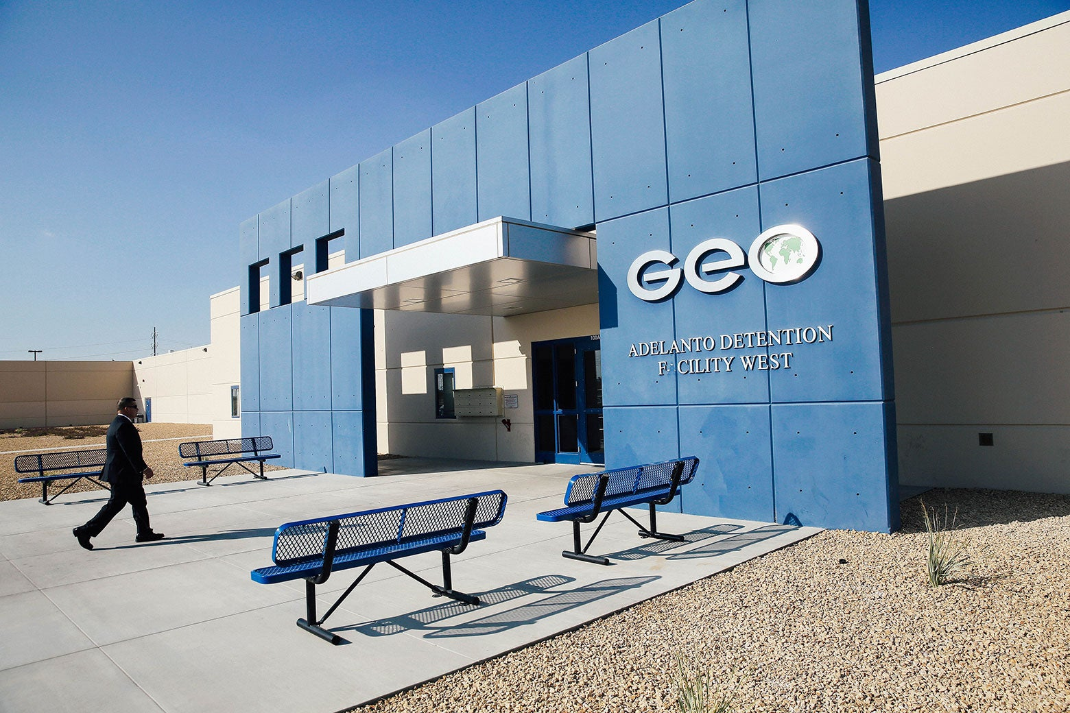 The Adelanto Detention Facility in California.