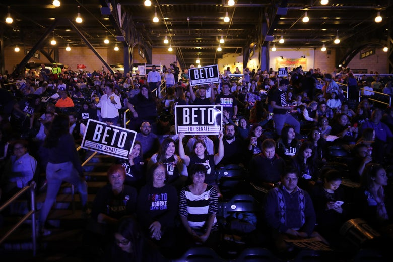 Thousands of supporters attend an election night party for U.S. Senate candidate Rep. Beto O'Rourke, who lost to Ted Cruz.
