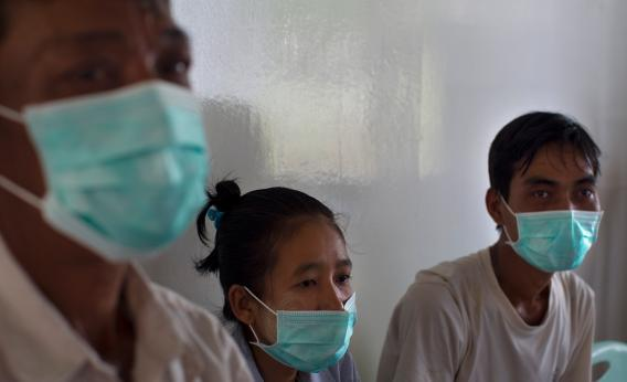Patients infected with multidrug-resistant tuberculosis in Burma.