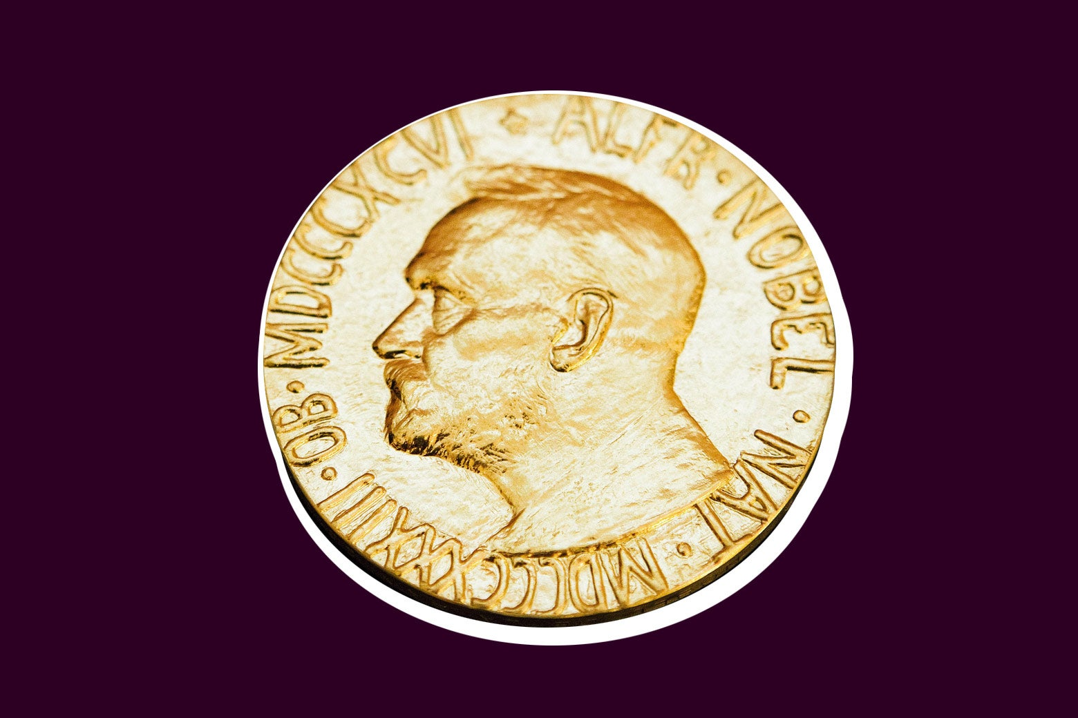 Nobel medal awarded to the Nobel Peace Prize laureate for 2010.