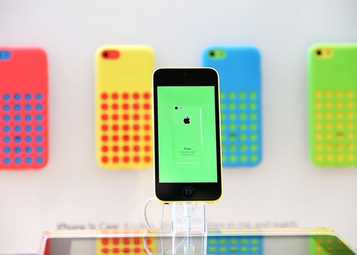 Apple iPhone 5C.