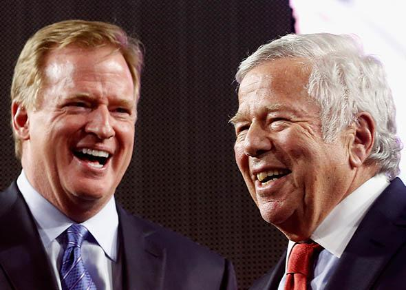 NFL Commissioner Roger Goodell and New England Patriots owner Robert Kraft.